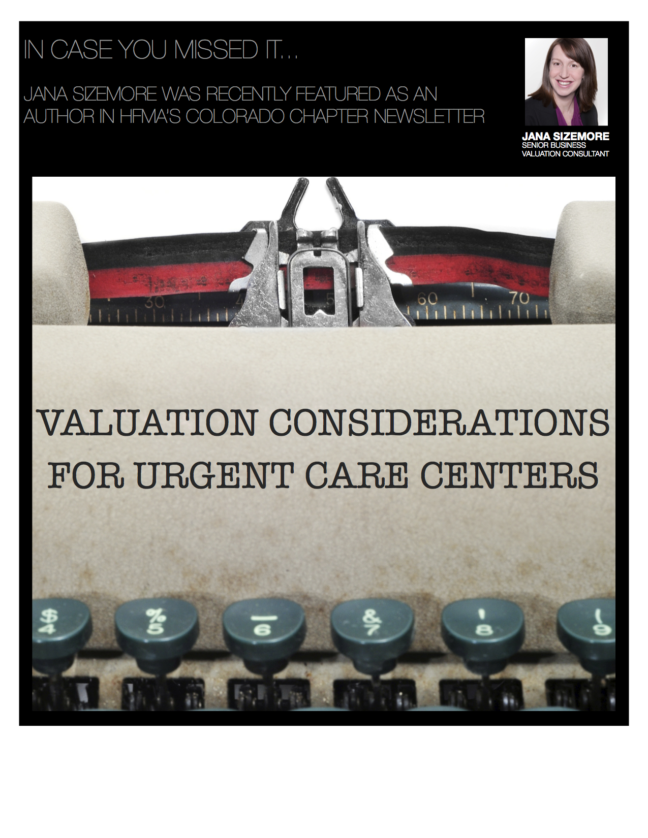 VALUATION CONSIDERATIONS FOR URGENT CARE CENTERS