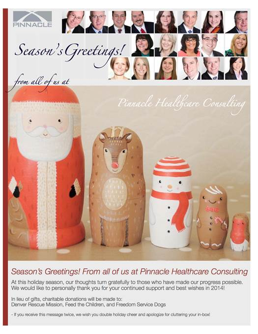 Pinnacle Healthcare Consulting - Seasons Greetings 2013